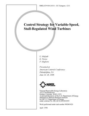 Primary view of object titled 'Control strategy for variable-speed, stall-regulated wind turbines'.