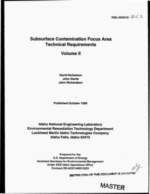 Primary view of object titled 'Subsurface contamination focus area technical requirements. Volume II'.
