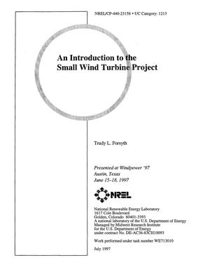 Primary view of object titled 'An introduction to the small wind turbine project'.
