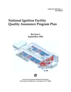 Primary view of object titled 'National Ignition Facility Quality Assurance Program Plan. Revision 1'.