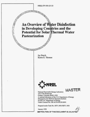 Primary view of object titled 'An overview of water disinfection in developing countries and the potential for solar thermal water pasteurization'.