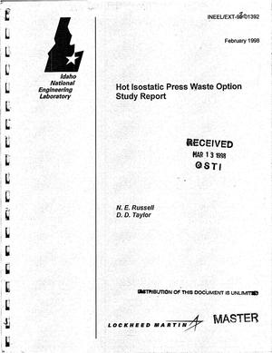 Primary view of object titled 'Hot isostatic press waste option study report'.