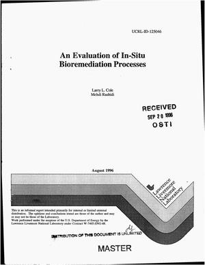 Primary view of object titled 'An evaluation of in-situ bioremediation processes'.
