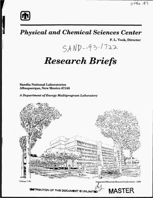 Primary view of object titled 'Research briefs of the Physical and Chemical Sciences Center'.