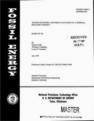 Primary view of object titled 'Techno-economic and risk evaluation of a thermal recovery project'.