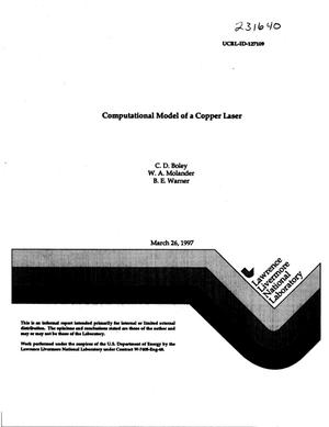 Primary view of object titled 'Computational model of a copper laser'.
