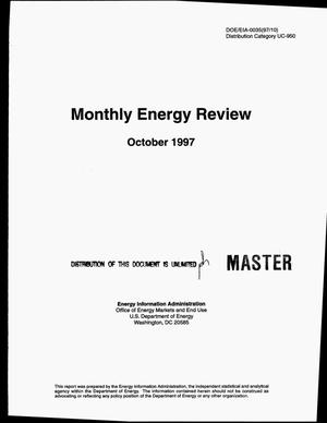 Primary view of object titled 'Monthly energy review, October 1997'.