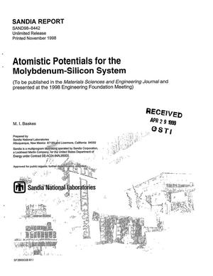 Primary view of object titled 'Atomistic Potentials for the Molybdenum-Silicon System'.
