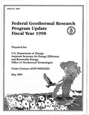 Primary view of object titled 'Federal Geothermal Research Program Update Fiscal Year 1998'.