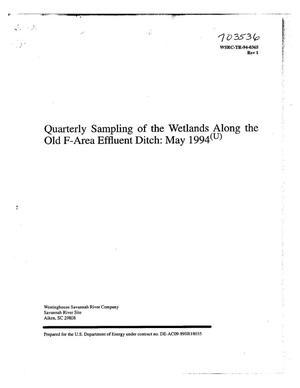 Primary view of object titled 'Quarterly sampling of the wetlands along the old F-Area effluent ditch, Revision 1'.