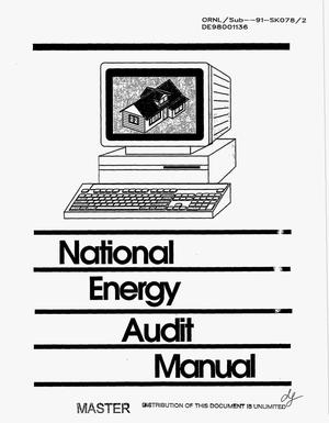 Primary view of object titled 'National Energy AudiT (NEAT) user`s manual'.