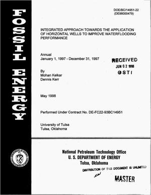Primary view of object titled 'Integrated approach towards the application of horizontal wells to improve waterflooding performance. Annual report, January 1, 1997--December 31, 1997'.