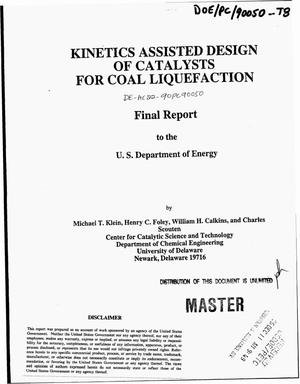 Primary view of object titled 'Kinetics assisted design of catalysts for coal liquefaction. Final report'.