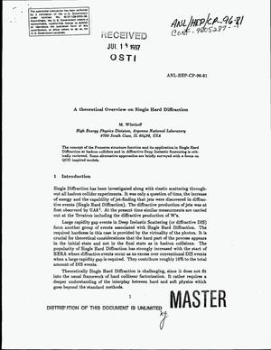 Primary view of object titled 'A theoretical overview on single hard diffraction'.