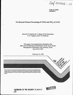 Primary view of object titled 'No-thermal plasma processing of VOCs and NO{sub x} at LLNL'.