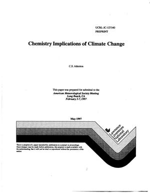 Primary view of object titled 'Chemistry implications of climate change'.
