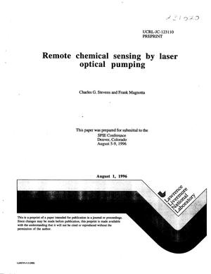 Primary view of object titled 'Remote chemical sensing by laser optical pumping'.