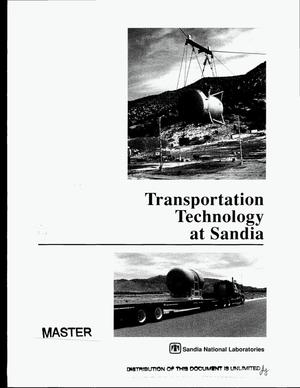 Primary view of object titled 'Transportation technology at Sandia'.