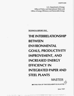 Primary view of object titled 'The interrelationship between environmental goals, productivity improvement, and increased energy efficiency in integrated paper and steel plants'.