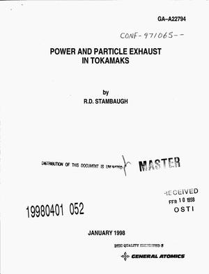 Primary view of object titled 'Power and particle exhaust in tokamaks'.
