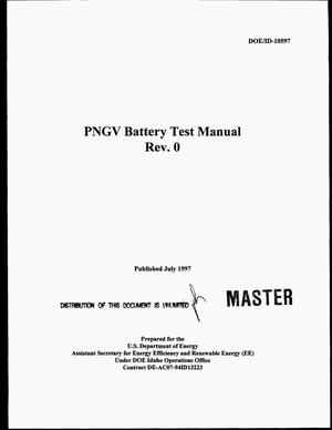 Primary view of object titled 'PNGV battery test manual'.
