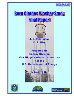 Primary view of object titled 'Bern clothes washer study. Final report'.