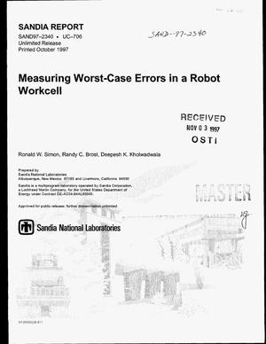 Primary view of object titled 'Measuring worst-case errors in a robot workcell'.