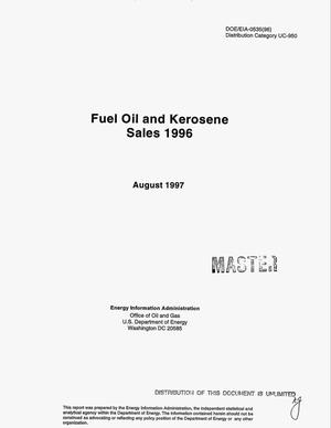 Primary view of object titled 'Fuel oil and kerosene sales 1996'.