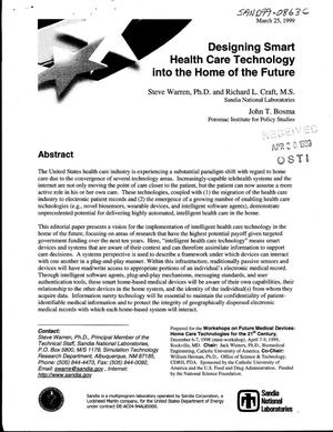 Primary view of object titled 'Designing Smart Health Care Technology into the Home of the Future'.