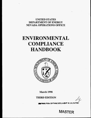 Primary view of object titled 'United States Department of Energy Nevada Operations Office Environmental Compliance Handbook. Third edition'.