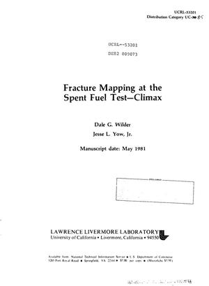 Primary view of object titled 'Fracture mapping at the Spent Fuel Test-Climax'.