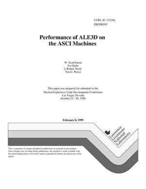 Primary view of object titled 'Performance of ALE3D on the ASCI machines'.