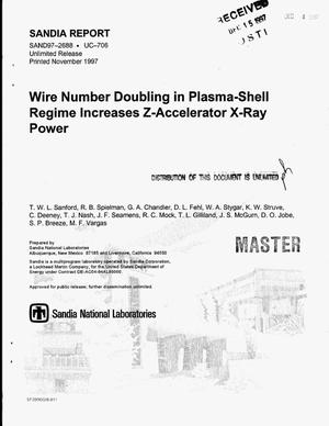 Primary view of object titled 'Wire number doubling in plasma-shell regime increases z-accelerator x-ray power'.