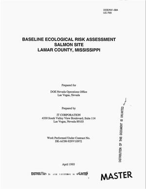 Primary view of object titled 'Baseline ecological risk assessment Salmon Site, Lamar County, Mississippi'.
