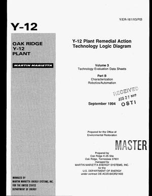 Primary view of object titled 'Y-12 Plant remedial action Technology Logic Diagram: Volume 3, Technology evaluation data sheets: Part B, Characterization; robotics/automation'.