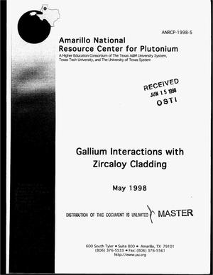 Primary view of object titled 'Gallium interactions with zircaloy cladding'.