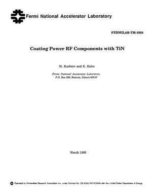 Primary view of object titled 'Coating power RF components with TiN'.