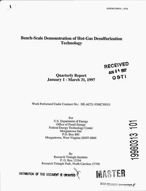 Primary view of object titled 'Bench-scale demonstration of hot-gas desulfurization technology. First quarterly report, 1997'.