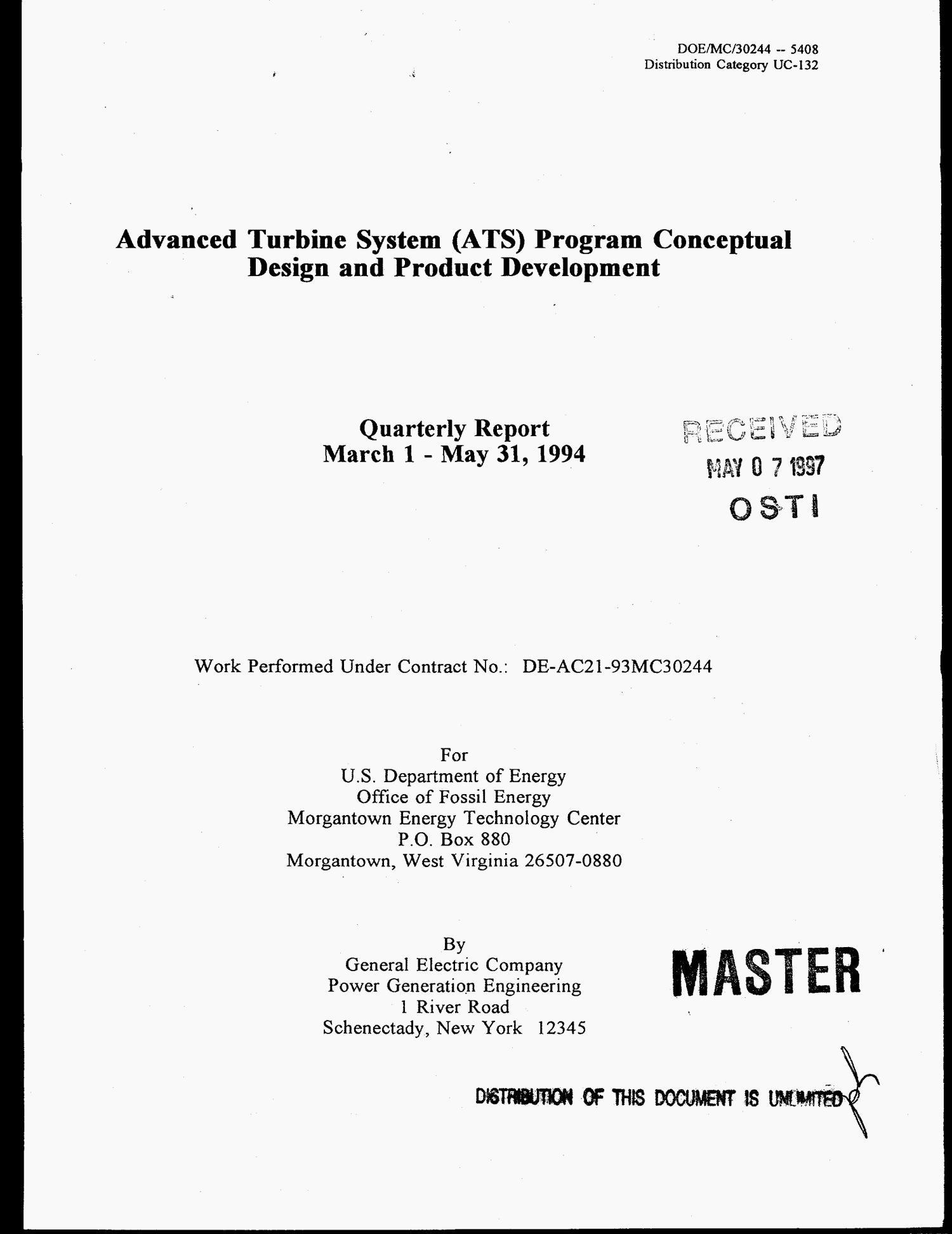 Advanced Turbine System ATS program conceptual design and