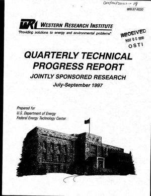 Primary view of object titled 'Providing solutions to energy and environmental problems. Quarterly technical progress report, July 1, 1997--September 30, 1997'.
