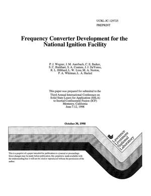 Primary view of object titled 'Frequency converter development for the National Ignition Facility'.