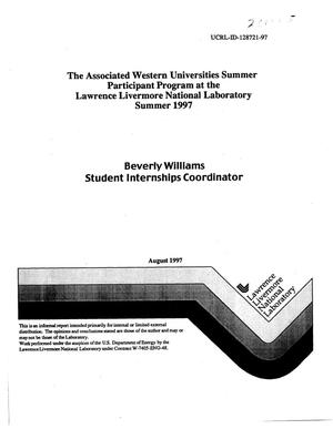 Primary view of object titled 'Associated Western Universities summer participant program at the Lawrence Livermore National Laboratory, Summer 1997'.