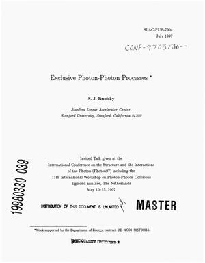 Primary view of object titled 'Exclusive photon-photon processes'.