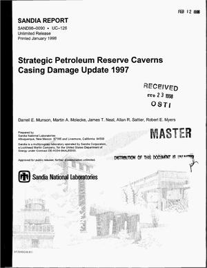 Primary view of object titled 'Strategic petroleum reserve caverns casing damage update 1997'.