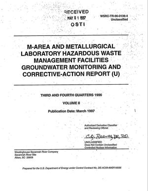 Primary view of object titled 'Mixed waste management facility groundwater monitoring report. Fourth quarter 1996 and 1996 summary'.