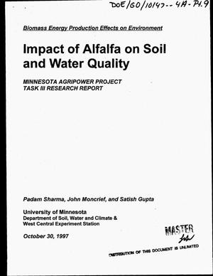 Primary view of object titled 'Impact of alfalfa on soil and water quality'.