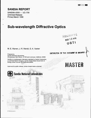 Primary view of object titled 'Sub-wavelength diffractive optics'.