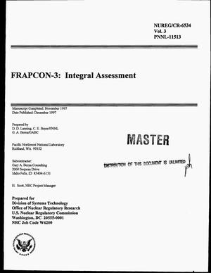 Primary view of object titled 'FRAPCON-3: Integral assessment'.