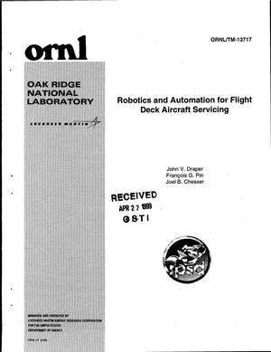 Primary view of object titled 'Robotics and Automation for Flight Deck Aircraft Servicing'.