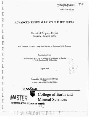 Primary view of object titled 'Advanced thermally stable jet fuels. Technical progress report, January 1996--March 1996'.